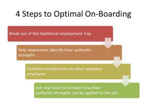 Four Steps to Optimal On-Boarding