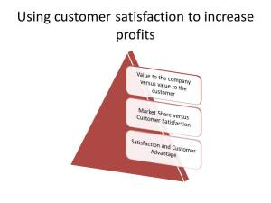 Using customer satisfaction to increase profits
