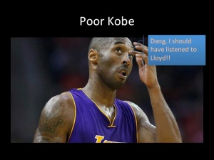 What Kobe Bryant was thinking