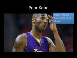 What Kobe Bryant was thinking