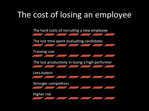 Losing an employee is more costly than you realize