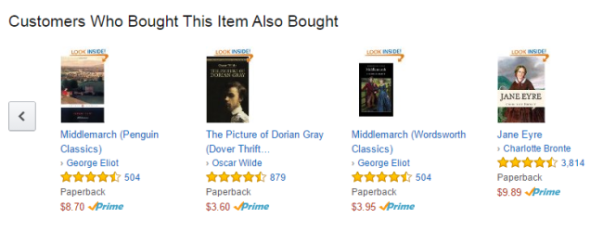 Amazon cross sell