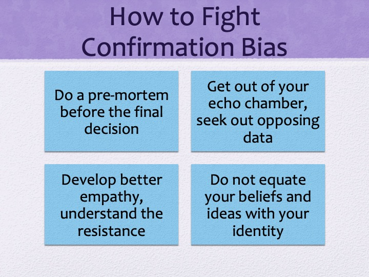 Confirmation of Confimation Bias