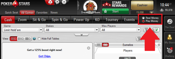 Pokerstars play mone
